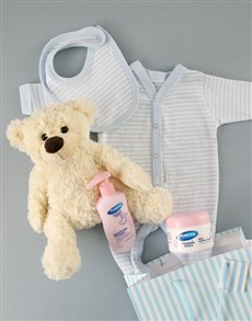 gifts: Baby Boy and Bear Gift Set!
