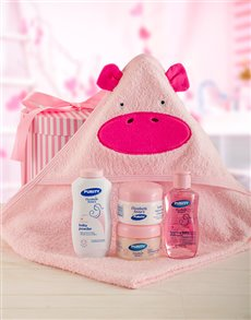 gifts: Pink Hippo Bath Set!