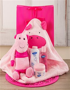 gifts: Baby Girl Hippo Bath Time Set!