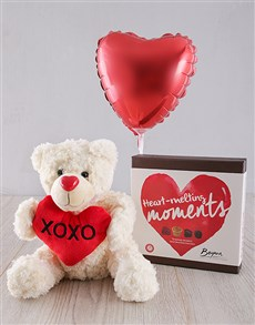 gifts: I Love You Teddy, Balloon and Chocs !