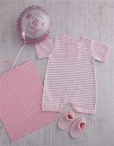 gifts: Baby Girl Baby Grow & Booties Set!