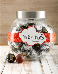 gifts: Death by Chocolate Lindt Candy Jar !