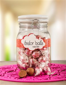 gifts: Lindt Almond Joy Truffle Jar!