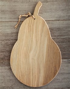 gifts: Laid back Weathered Oak Pear Cheese Board!