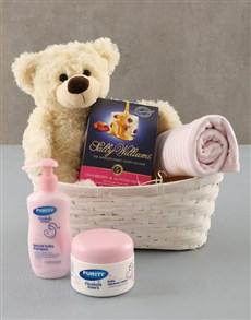 gifts: Baby Girl Gift Basket !
