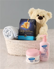 gifts: Baby Boy Gift Basket!