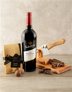 gifts: Nederburg and Biltong Cutter Hamper!