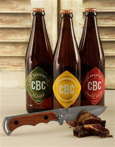 gifts: CBC Craft Beer with Biltong Knife!