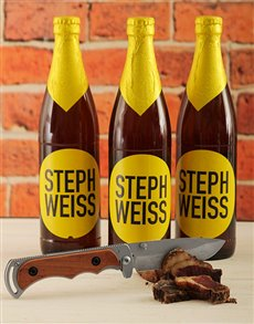 gifts: Steph Weiss Craft Beer with Biltong Knife!