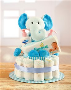 gifts: Teddy Elephant Nappy Cake!