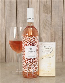 gifts: Blushing Wine and Lindt Choc Duo !