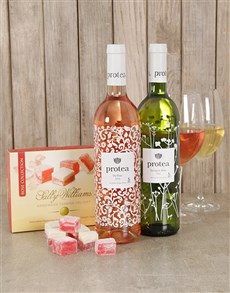 gifts: Delightful Protea Wine & Sally Williams Gift Box!