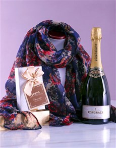 gifts: Navy Polka Dot Scarf and Bubbles!