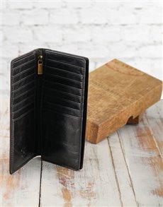 gifts: Jekyll & Hide Oxford Black Unisex Foldover Wallet!
