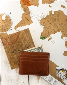 gifts: Jekyll & Hide Card Holder and Travel Scratch Map!