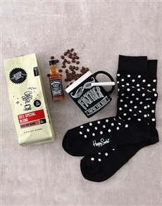 gifts: Happy Socks and Spiked Coffee!