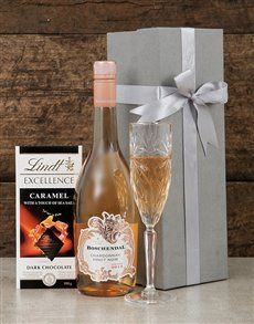 gifts: Boschendal Chardonnay and Lindt Box!