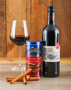gifts: Chocolate Wafer & Wine Gift!