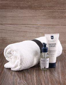 gifts: Towel and Bath Set!