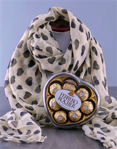 gifts: Vintage Scarf and Truffles!