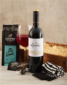 gifts: Happy Guys Drink Wine and Coffee!
