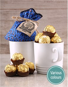gifts: Set of Le Creuset Mugs, Coffee and Ferrero Rocher!