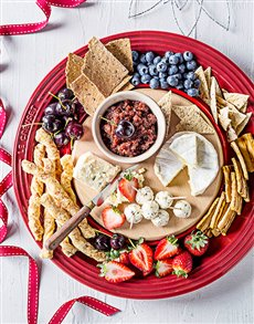 gifts: Le Creuset Cheese Platter with Wooden Board!