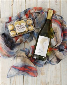 gifts: Wine and Dine Scarf Hamper!