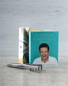 gifts: Jamies Everyday Super Food Cookbook hamper!