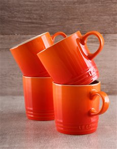 gifts: Set of 4 Le Creuset Coffee Mugs!