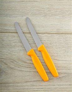 gifts: Orange 2pc Serrated Pairing Knife Set!