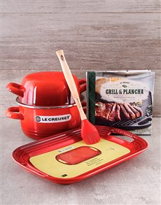 gifts: Le Creuset BBQ and Cook Book Set!