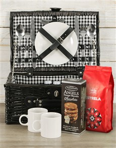 gifts: Coffee Lover's Picnic Basket!