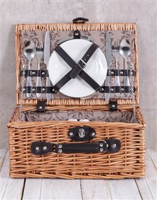 gifts: Brown Cloth Picnic Basket!