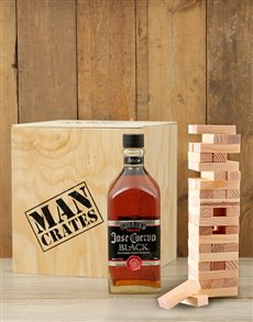 gifts: Tequila and Jenga Man Crate!