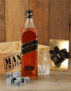 gifts: Classic Johnnie Walker Man Crate!