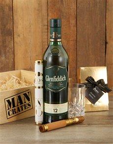 gifts: Glenfiddich Gentleman Man Crate!