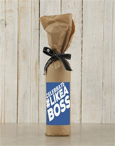 gifts: Like A Boss Wine in Craft Paper!