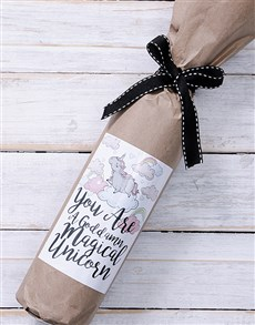 gifts: Magical Unicorn Wine in Craft Paper!