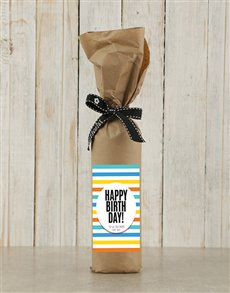 gifts: Birthday Wine in Craft Paper!