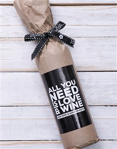 gifts: Love and Wine in Craft Paper!