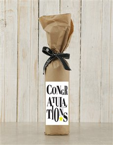 gifts: Congratulations Wine in Craft Paper!