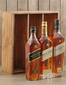 gifts: Triple Johnnie Walker Crate!