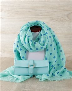 gifts: Blue Scarf & Jewellery Travel Bag!
