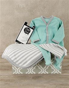 gifts: Mint & Grey Baby Gift Set!