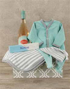 gifts: Mint and Grey Mom and Baby Crate!