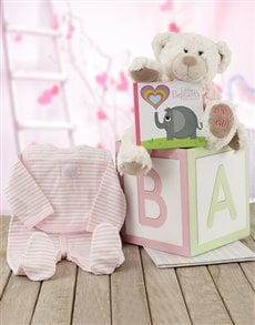 gifts: ABC Baby Girl Gift Box!