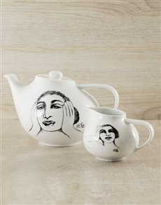 gifts: Carrol Boyes Ceramic Tea Pot & Milk Jug!