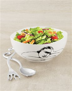 gifts: Carrol Boyes Salad Bowl & Servers!
