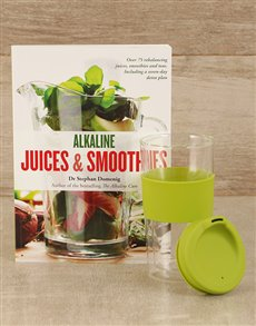 gifts: Alkaline Juices & Smoothies with Travel Mug!